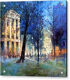New Year's Eve Downtown Acrylic Print