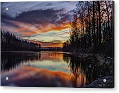 New Years Eve Sunset Acrylic Print