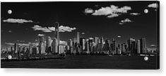 New York 1 Black And White Acrylic Print