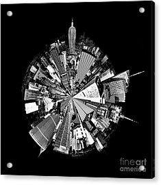 New York 2 Circagraph Acrylic Print by Az Jackson