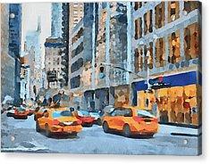 New York 2 Acrylic Print by Yury Malkov