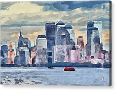 New York 7 Acrylic Print by Yury Malkov