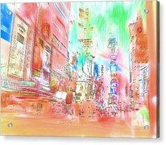 New York Abstract Acrylic Print by Tom Gowanlock