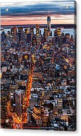 New York Aerial Cityscape Acrylic Print by Mihai Andritoiu