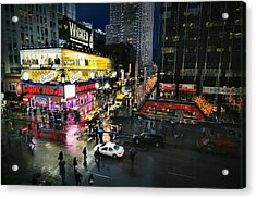 New York After The Rain Acrylic Print
