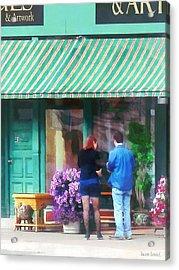 New York - Antique Shop Canandaigua Ny Acrylic Print by Susan Savad