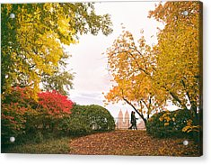 New York Autumn - Central Park Fall Foliage Acrylic Print