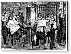 New York: Barbershop, 1882 Acrylic Print by Granger