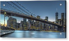 New York - Blue Hour Over Manhattan Acrylic Print