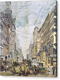 New York Broadway, C1885 Acrylic Print by Granger