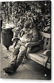 New York Bum In Westminster Acrylic Print by Ross Henton