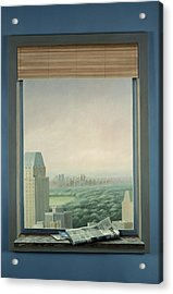 New York Central Park Acrylic Print by Lincoln Seligman