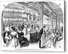 New York Charity Ball, 1866 Acrylic Print by Granger