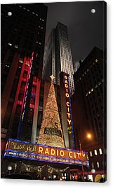 New York Christmas Acrylic Print by Stephen Richards