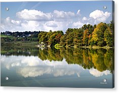 Acrylic Print featuring the photograph New York Cincinnatus Lake by Christina Rollo