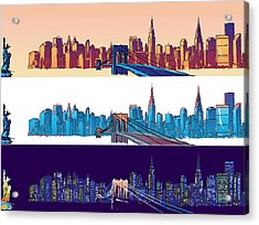 New York City - All Day Acrylic Print