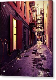 New York City Alley Acrylic Print by Vivienne Gucwa