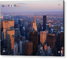 New York City At Dusk Acrylic Print