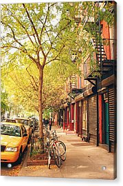 New York City - Autumn In The East Village  Acrylic Print
