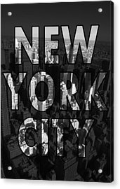 New York City - Black Acrylic Print by Nicklas Gustafsson