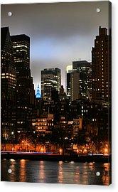 New York City Blue Acrylic Print by JC Findley