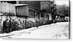New York City Bread Line Acrylic Print by Granger