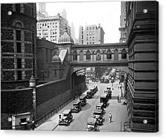 New York City Bridge Of Sighs Acrylic Print by Underwood Archives