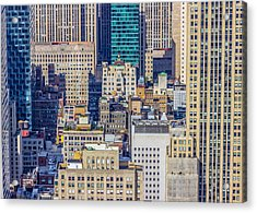 New York City Buildings Abstract Acrylic Print
