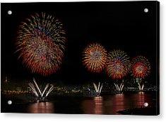 New York City Celebrates The Fourth Acrylic Print by Susan Candelario