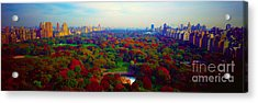 Acrylic Print featuring the photograph New York City Central Park South by Tom Jelen