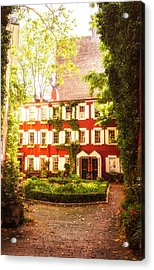 New York City - Charming Townhouses Acrylic Print by Vivienne Gucwa