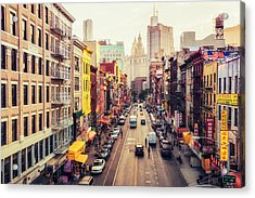 New York City - Chinatown Street Acrylic Print by Vivienne Gucwa