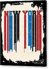 New York City Concept. Logo. Label Acrylic Print