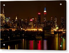 New York City Acrylic Print by Dave Files