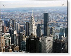 Acrylic Print featuring the photograph New York City East by Robert  Moss