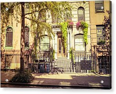 New York City - East Village - Early Autumn Acrylic Print by Vivienne Gucwa