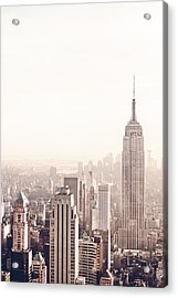 New York City - Empire State Building Acrylic Print by Vivienne Gucwa
