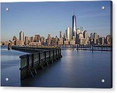 New York City Financial District Acrylic Print by Susan Candelario