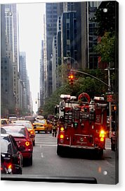 New York City Fire Department Truck Nyfd 2005 Acrylic Print by Cleaster Cotton