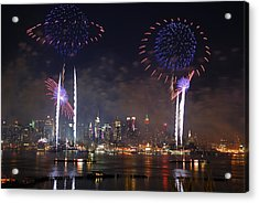 New York City Fireworks Show Acrylic Print