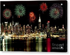 New York City Fourth Of July Acrylic Print by Anthony Sacco