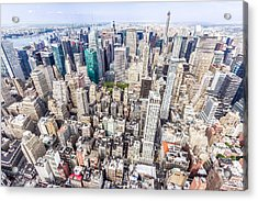 New York City From The Empire State Building Acrylic Print