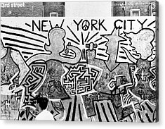 Acrylic Print featuring the photograph New York City Graffiti by Dave Beckerman