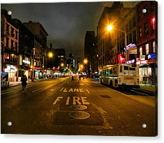 New York City - Greenwich Village 017 Acrylic Print by Lance Vaughn