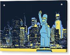New York City Homer Statue Acrylic Print