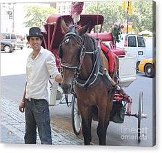 New York City Horse And Carriage Acrylic Print by John Telfer