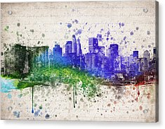 New York City In Color Acrylic Print by Aged Pixel
