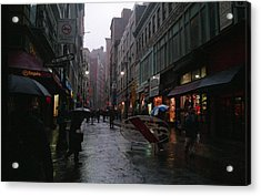 New York City In The Rain Acrylic Print by Eric Miller