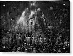 New York City Acrylic Print by Leif L?ndal