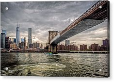 New York City Acrylic Print by Linda Karlin